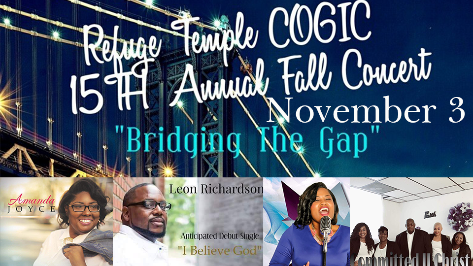 Refuge Temple COGIC - Fall Concert - November 3
